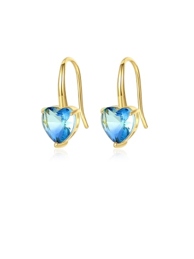 Copper With Gold Plated Simplistic Heart Hook Earrings