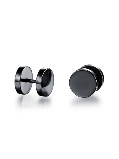 Simple Little Dumbbell Smooth Stud Earrings
