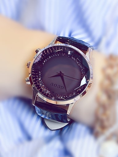 GUOU Brand Fashion Rhinestones Watch