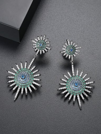 AAA zircon color Europe and America atmosphere fashion earrings gift