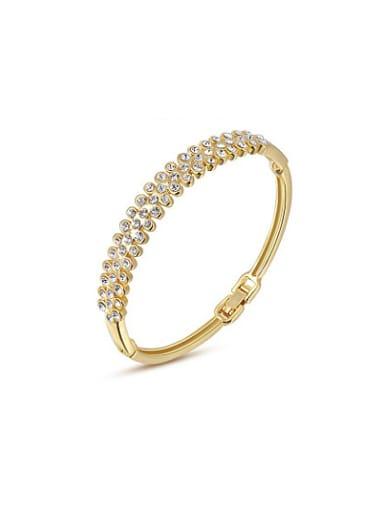 High-quality 18K Gold Plated Austria Crystal Bangle
