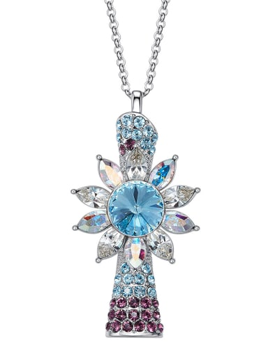 Fashion Swarovski Crystals Sweater Chain