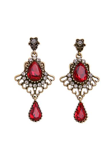 Artificial Stones Water Drop Chandelier earring