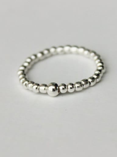 S925 silver fashion light beads Midi Ring