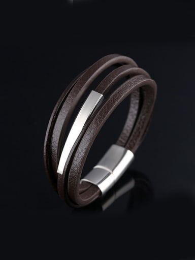 Fashion Multi-band Artificial Leather Bracelet