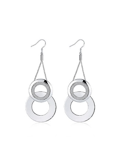 Exaggerated Double Hollow Round Earrings