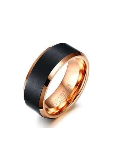 Personality Rose Gold Plated Tungsten Ring