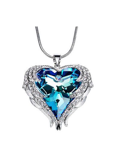 2018 Heart-shaped Swarovski Crystal Necklace