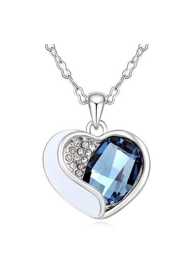 Fashion Swarovski Crystal Heart Pendant Alloy Necklace