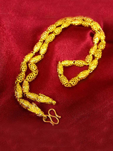 Exquisite Double Dragon Hollow Necklace