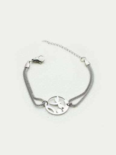 Round Dragonfly Double Lines Bracelet