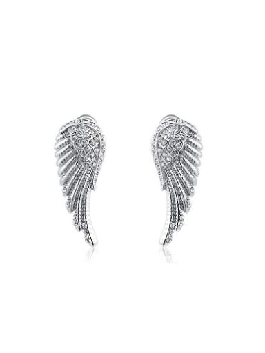 Exquisite Wing Shaped Austria Crystal Stud Earrings