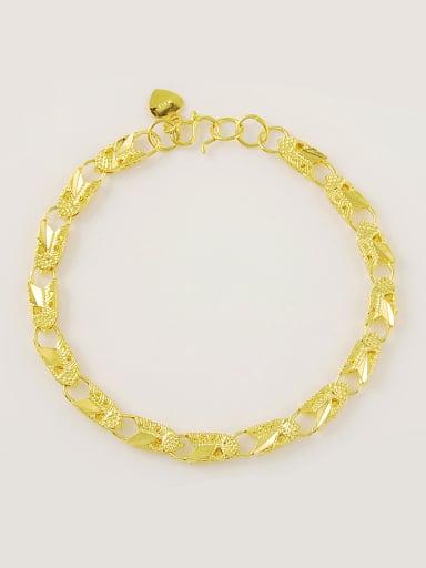 Fashionable 24K Gold Plated Shield Shaped Bracelet