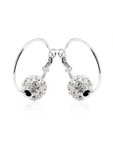 Fashion Rhinestone-studded Bead Earrings