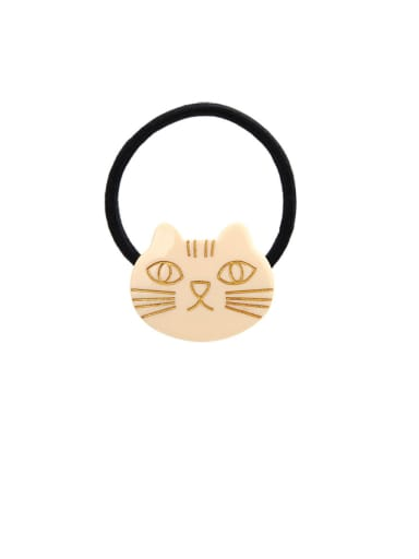 Rubber Band With Cellulose Acetate Cute Cat Children Hair Ropes