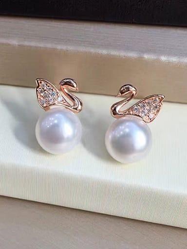 2018 Fashion Swan Freshwater Pearl stud Earring