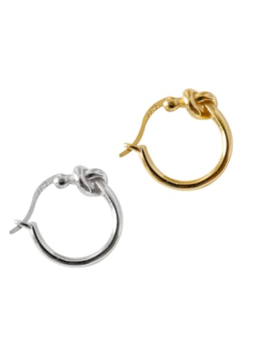 Simple Round S925 Silver Clip Earrings