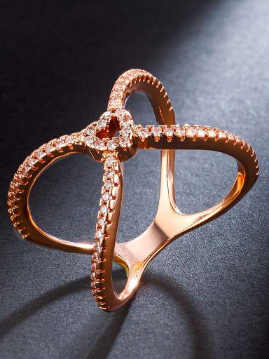 Fashion and miniature micro-inlay AAA zircon ring