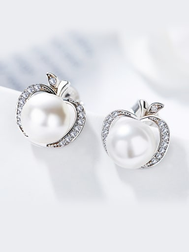 2018 2018 S925 Silver Pearl stud Earring