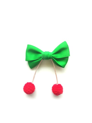 Where's dad? Red wine bow tie pin, Korea imported ribbon, baby chuck 70924