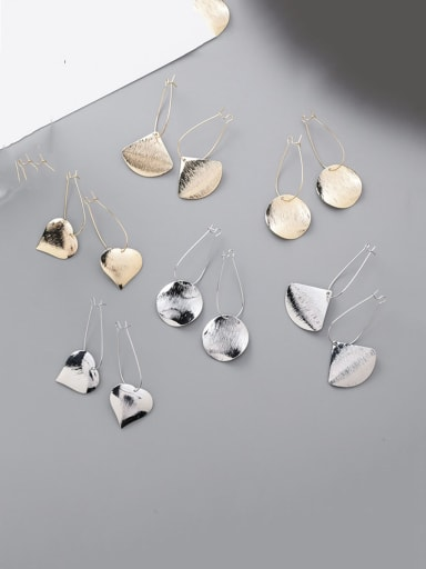 Alloy With Smooth  Simplistic Geometric Drop Earrings