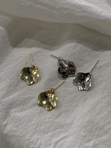 925 Sterling Silver With Gold Plated Simplistic Geometric Drop Earrings