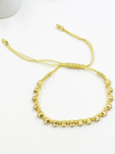 Delicate Geometric Shaped Rhinestones Handmade Bracelet