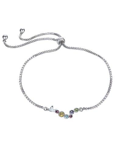 Multi-color Crystal S925 Silver Bracelet