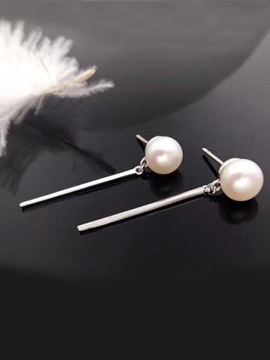 2018 2018 2018 Fashion Freshwater Pearl Drop threader earring