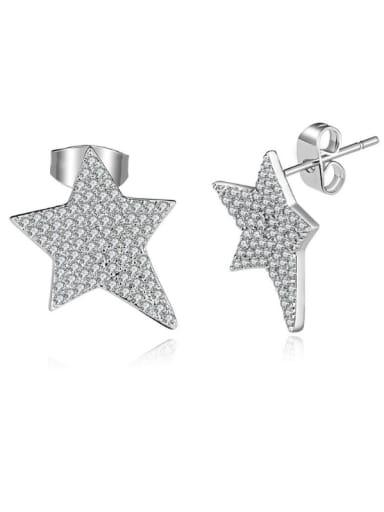 Star Shaped Zircon stud Earring