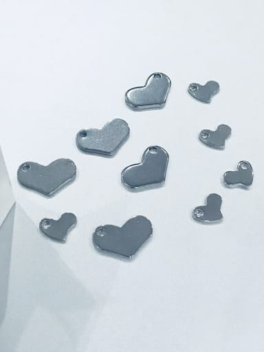 Stainless Steel With heart Charms