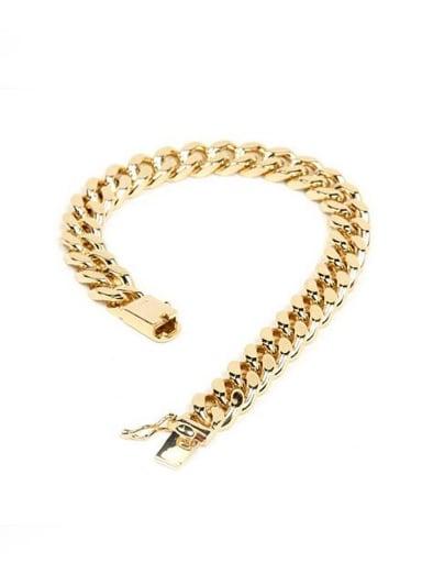 Men Exquisite Gold Plated Geometric Shaped Copper Bracelet