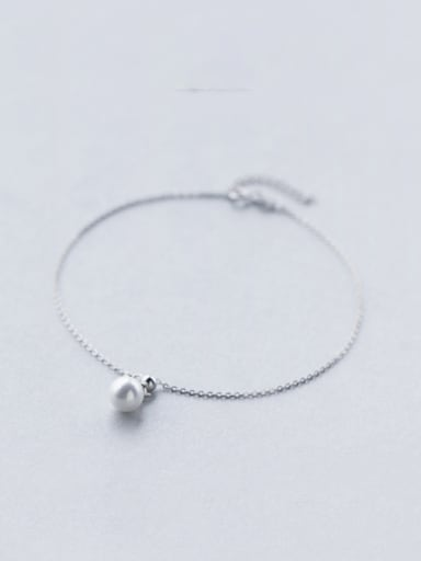 Adjustable All-match Artificial Pearl S925 Silver Foot Jewelry