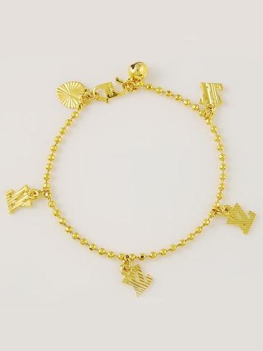 Fashionable 24K Gold Plated Letter Design Bracelet