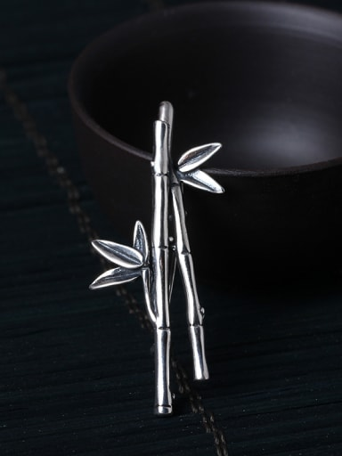 Dual-purpose Bamboo Shaped Brooch