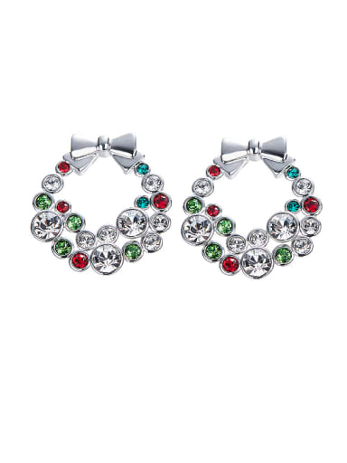 Multi-color Bowknot Shaped stud Earring
