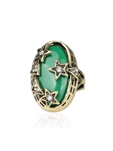 Bohemia Retro style Resin stone Little Star Alloy Ring