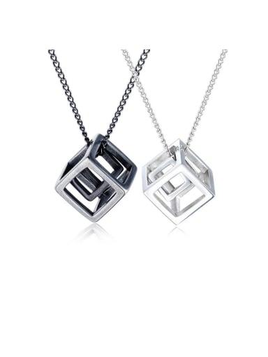 Titanium With Smooth  Simplistic Geometric Pendants