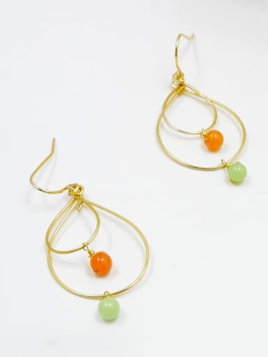 Delicate Water Drop Natural Stone Earrings
