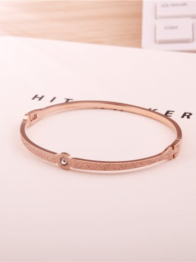 Rose Gold Plated Fashion Titanium Bangle