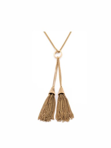 Exquisite Tassel Long Alloy Necklace
