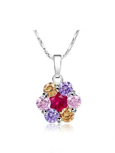 Fashion Flowery Zircon Women Necklace