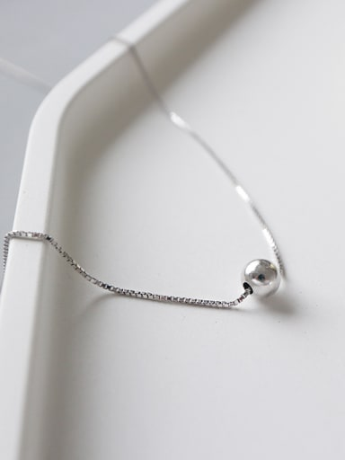 Sterling Silver short Bead Necklace