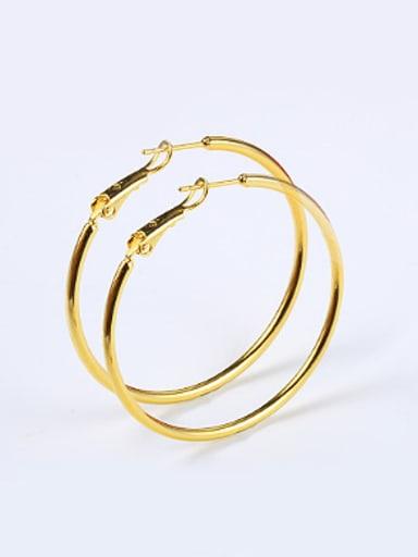 Simple Smooth Gold Plated Hoop Earrings