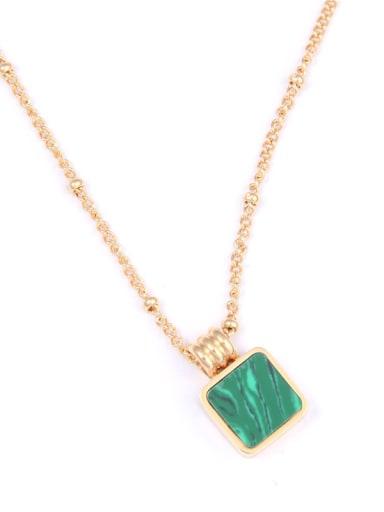 Titanium With Gold Plated Simplistic Square Necklaces
