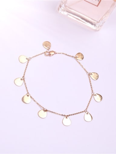 Disc Rose Gold Plated Fashion Anklet