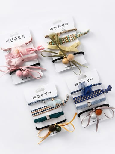 Simple new hair ball fresh head rope four sets Barrettes & Clips