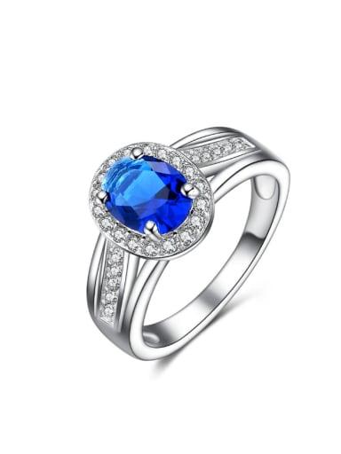 Western Style Color Zircon Women Ring
