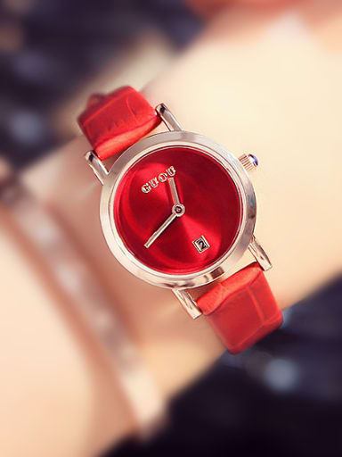 GUOU Brand Simple Mechanical Women Watch