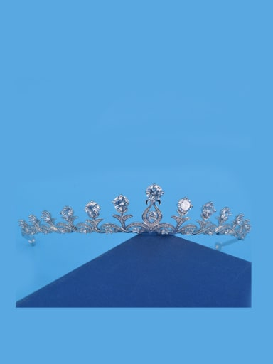 Simple Style Exquisite Zircons White Hair Accessories